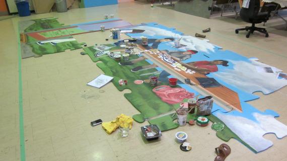 Puzzle Mural - in progress