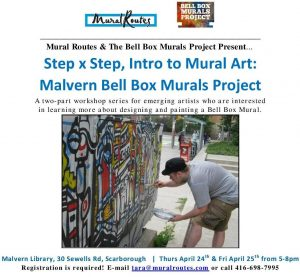 Registration Open for Step x Step Malvern Bell Box Mural Project workshops