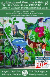 "Creekside, The ""Eastern Gateway"" Mural Celebration"