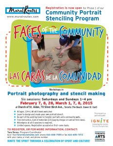 "Registration open for portrait stencil program ""Faces of the Community/ Las Caras de la Comunidad"" in The Beaches"