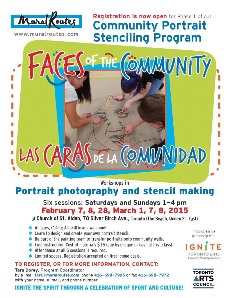 Promotional poster for Faces of the Community program Registration