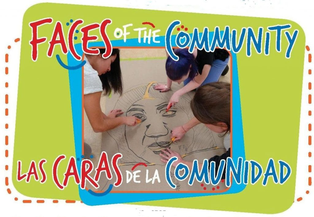 """Faces of the Community / Las Caras de la Comunidad"" logo"